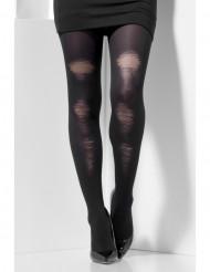 Mustat opaque- sukkahousut vanhoilla yksityiskohdilla naiselle