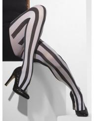 Mustavalkoraidalliset sukkahousut naiselle