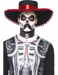 Meksikolaisen luurangon Dia de los muertos- meikkisetti aikuiselle
