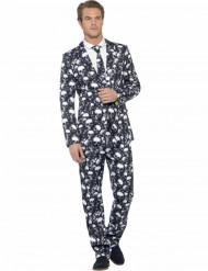 Mr. Pääkallo -Halloween puku aikuisille