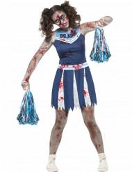 Zombie/cheerleaderin naamiaisasu nuorelle halloween