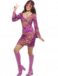 Violetti hippimekko naiselle