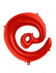 Jättimäinen punainen @-ilmapallo 70 cm