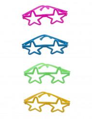 Värikkäät silmälasit 4 kpl