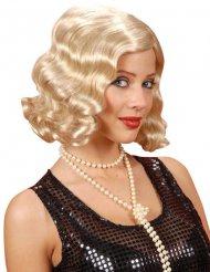 Laineikas vaalea 20- luvun peruukki naiselle
