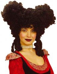 Musta renessanssiperuukki naiselle