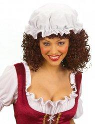 Valkoinen keskiaikainen hattu aikuiselle