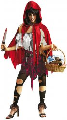 Ilkeä Punahilkka - aikuisten Halloween asu