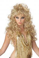 Blondi 80-luvun peruukki naiselle