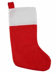 Punavalkoinen joulusukka 37 cm