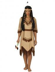 Intiaanin mekko ihanilla ykityiskohdilla - Naamiaisasut aikuisille