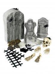 Halloween-koristesetti 21 osaa luuranko ja hautakivet