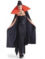 Vampyyrin mustapunainen viitta naiselle halloween