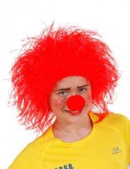 Punainen klovniperuukki lapselle