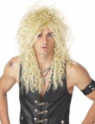 80-luvun blondi rock-tähden- peruukki aikuiselle