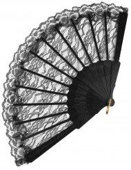 Musta pitsiviuhka 24 cm