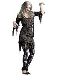 Hallowen zombin harmaa naamiaisasu naiselle