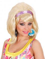 60-luvun vaalea peruukki naiselle