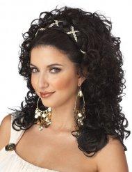 Kreikkalaisen jumalattaren musta peruukki