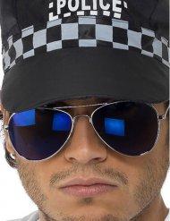 Tummansiniset poliisin aurinkolasit aikuiselle