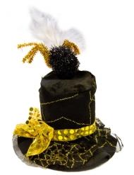 Mustakultainen hattu hämähäkinseitillä aikuiselle