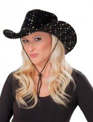 Musta cowgirl-hattu aikuiselle
