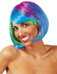 Värikäs bob-peruukki