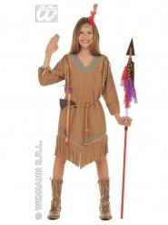 Epäsymmetrinen intiaanimekko tytölle