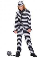Mustavalkoinen vankiasu lapselle