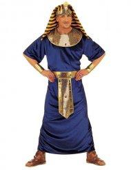 Sinikultainen faaraon naamiaisasu miehelle