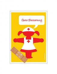 Gute Besserung -toipilaskortti sairaalle