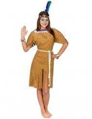 Ruskea intiaanin naamiaisasu naiselle