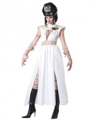 Valkoinen/beige zombin naamiaisasu naiselle halloween