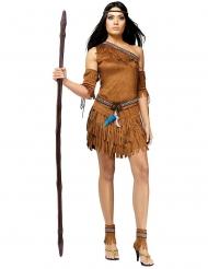 Ruskea intiaani naamiaisasu naiselle