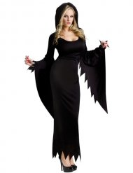 Goottinoidan musta naamiaisasu naiselle halloween