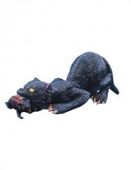 Musta kissa rotta suussa- koriste 76 cm