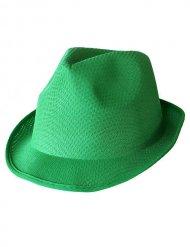 Vihreä borsalino- hattu aikuiselle