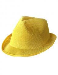 Keltainen borsalino- hattu aikuiselle