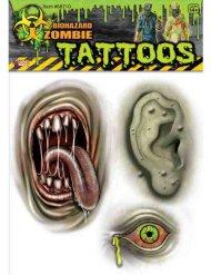 Mutanttizombin vihreät tatuoinnit halloween