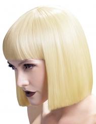Vaalea polkkatukka otsahiuksilla peruukki naiselle