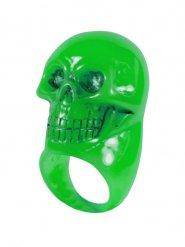 Vihreä pääkallosormus