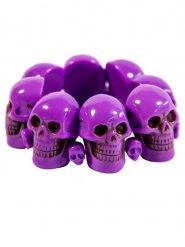 Violetti pääkallorannekoru