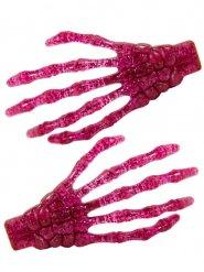 Luurangon kädet- vaaleanpunaiset hiuspinnit 7 cm 2 kpl
