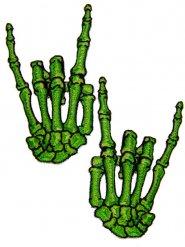 Vihreät luurangon kädet- kangaspaikat 2 kpl