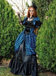 Viktoriaanisen goottivampyyrin naamiaisasu naiselle