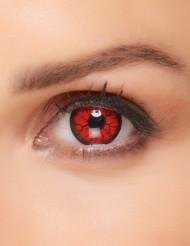 Monsterin punaiset silmät- piilolinssit aikuiselle