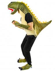 Vihreän dinosauruksen naamiaisasu aikuiselle
