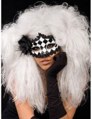 Valkoinen barokkiperuukki naiselle