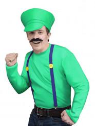 Vihreä videopelihahmon naamiaisasu miehelle