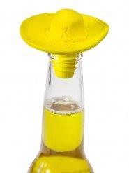 Keltainen sombreron muotoinen korkki 6x9 cm